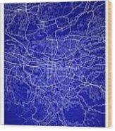 San Jose Street Map - San Jose Costa Rica Road Map Art On Colore Wood Print