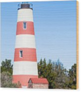 Sapelo Island Lighthouse Sapelo Island Georgia Wood Print