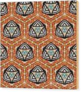 Seamlessly Tiled Kaleidoscopic Mosaic Pattern Wood Print