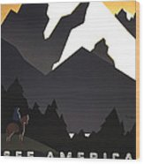 See America Poster, C1937 Wood Print