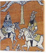 Shahnameh Ferdowsi Rostam And Sohrab Photos Of Persian Antique Rugs Kilims Carpets  Wood Print