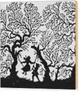 Silhouette 19th Century Wood Print