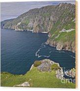 Slieve League Cliffs, Ireland Wood Print