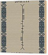 Smith Written In Ogham Wood Print