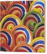 Spinning Tops Wood Print