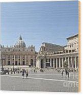 St Peter's Square. Vatican City. Rome. Lazio. Italy. Europe  Wood Print