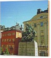 Stockholm City Art Wood Print