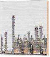 Stream Power Plant  Wood Print by Anek Suwannaphoom