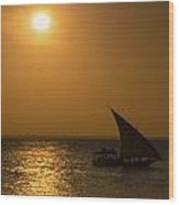 Sunset In Zanzibar - Kendwa Beach Wood Print
