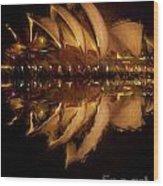 Sydney Opera House Abstract Wood Print