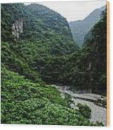 Taiwan Tropical Mountainscape Wood Print