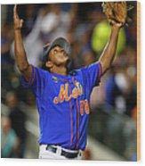 Texas Rangers V New York Mets Wood Print