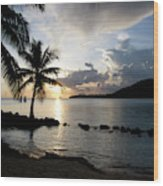 The Beach Of White Sand With Views Wood Print