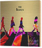 The Beatles Gold Series Wood Print