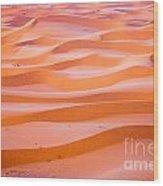 The Beautiful Silence Of The Sahara Desert Wood Print