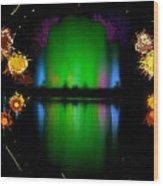 The Electric Fountain Wood Print
