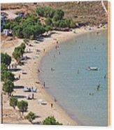 The Famous Psili Ammos Beach Wood Print
