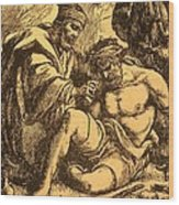 The Good Samaritan Wood Print by English School