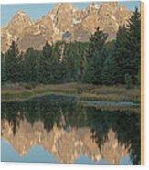 The Grand Tetons Schwabacher Landing Grand Teton National Park Wood Print