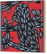 The Lonely Serpent Wood Print
