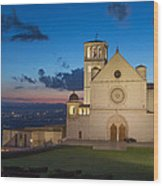 The Papal Basilica Of St. Francis Of Assisi  Wood Print