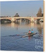 The River Thames At Hampton Court London Wood Print