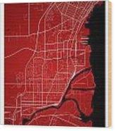 Thunder Bay Street Map - Thunder Bay Canada Road Map Art On Colo Wood Print