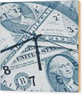 Time Is Money Concept Wood Print