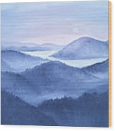 Tranquility Wood Print by Glenda Barrett