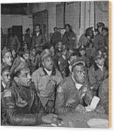 Tuskegee Airmen, 1945 Wood Print by Granger