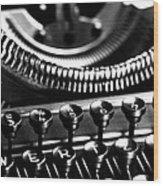 Typewriter Wood Print by Falko Follert