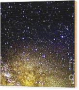 Under The Milky Way Wood Print