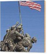 Us Marine Corps Memorial Wood Print