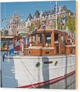 Victoria Wooden Boat Show Wood Print