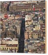View From Torre Latinoamerican Wood Print