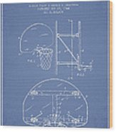 Vintage Basketball Goal Patent From 1944 Wood Print