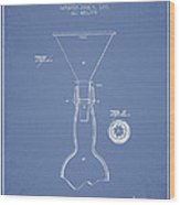 Vintage Bottle Neck Patent From 1891 Wood Print by Aged Pixel