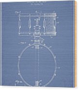 Snare Drum Patent Drawing From 1939 - Light Blue Wood Print