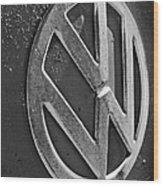 Volkswagen Vw Bus Front Emblem Wood Print
