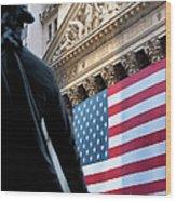 Wall Street Flag Wood Print