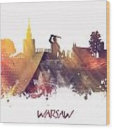 Warsaw City Skyline Wood Print