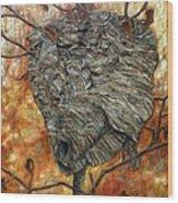 Wasp Nest Wood Print