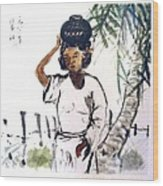 Water Carrier Wood Print