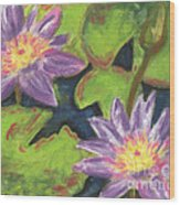 Water Lilies I Wood Print