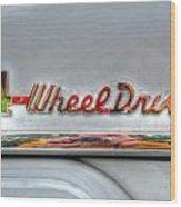 4 Wheel Drive Wood Print