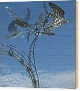 Whirlybird Wood Print
