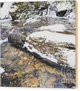 White Oak Run In Winter Wood Print by Thomas R Fletcher