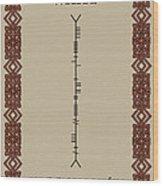 White Written In Ogham. Wood Print