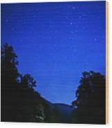Williams River Summer Solstice Night Wood Print by Thomas R Fletcher