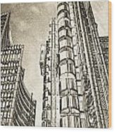Willis Group And Lloyd's Of London Art Wood Print